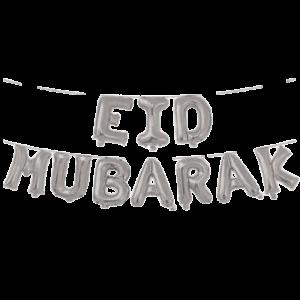 Eid Mubarak Zilver